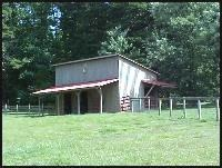 A nice sized barn, can easily house up to 8 adult alpacas